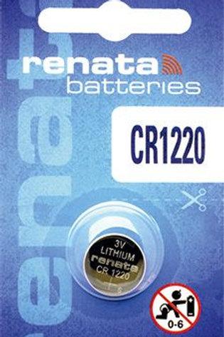 1 x CR1220 Renata 3V Litio
