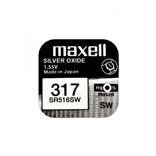 1 x SR516SW 317 Maxell Micro Pila de Reloj Óxido de Plata