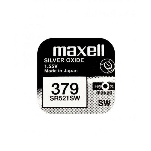 1 x SR521SW 379 Maxell Micro Pila de Reloj Óxido de Plata