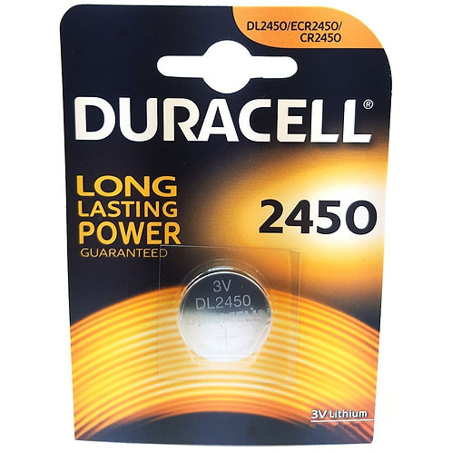 1 x CR2450 Duracell 3V Litio