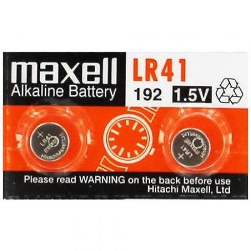 2 x LR41 Maxell Pila Alcalina 1,5V