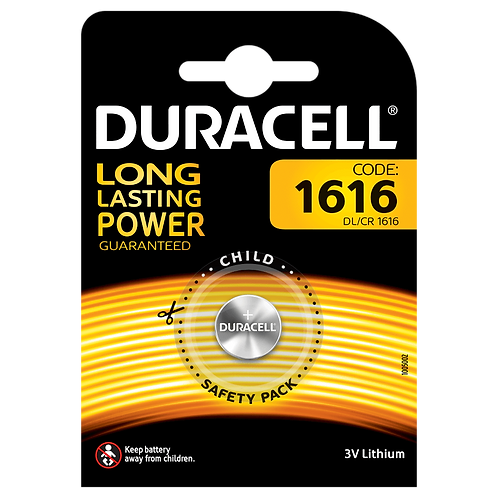 10 x CR1616 Duracell 3V Litio