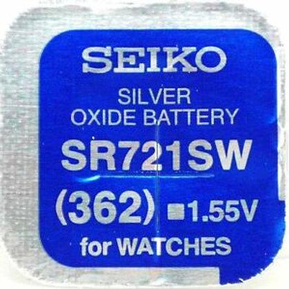 1 x SR721SW 362 Seiko Micro Pila de Reloj Óxido de Plata