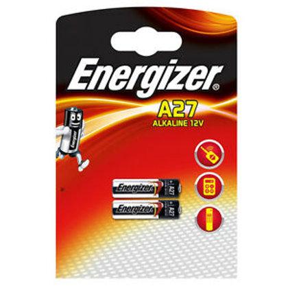 2 x 27a Energizer 12V A27 alcalina
