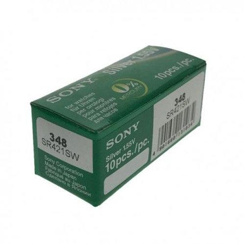 1 x SR421SW 348 Sony Micro Pila de Reloj Óxido de Plata