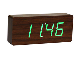 GK06G8 - Slab Click Clock - Nuez