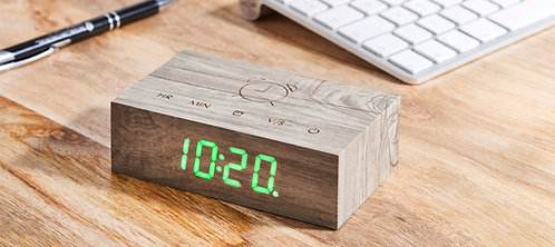 GK003A12 - Flip Click Clock - Ceniza