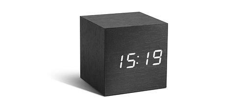 GK08W10 - Cube Click Clock Negro LED Blanco