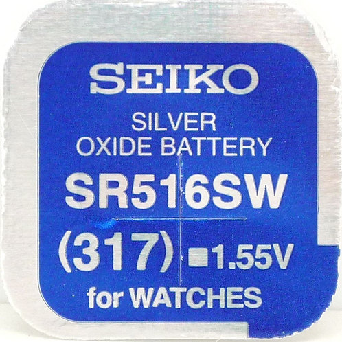 10 x SR516SW 317 Seiko Micro Pila de Reloj Óxido de Plata