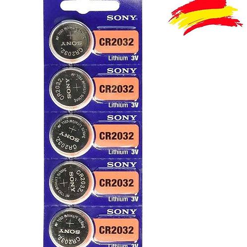 5 x CR 2032 Sony 3V Litio CR2032