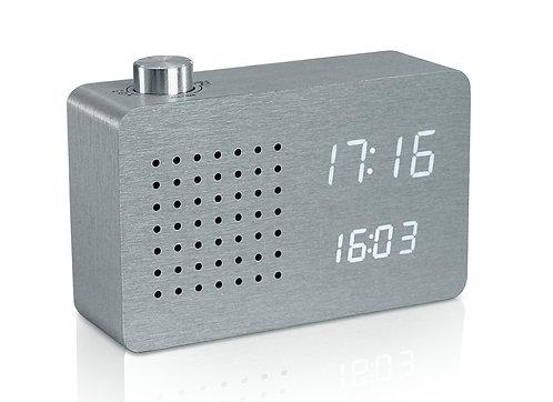 GK16W6 - Radio Click Clock - Aluminio