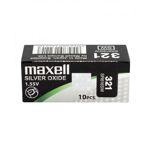 10 x SR616SW 321 Maxell Micro Pila de Reloj Óxido de Plata
