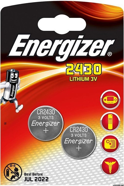 2 x CR2430 Energizer 3V Litio