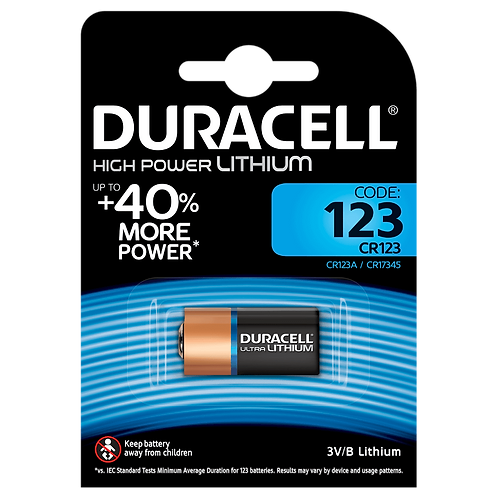CR123 3V Pila Duracell Litio