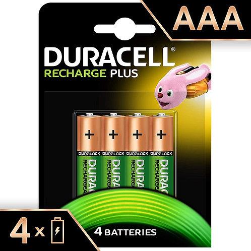 LR03 AAA Duracell Pila Recargable 750 mAh ( Blister 4 unidades )