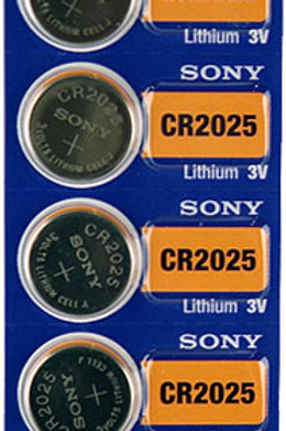 5 x CR2025 Sony 3V Litio