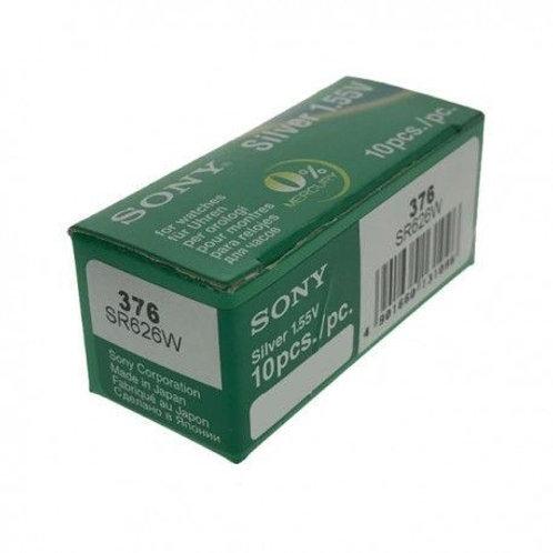 10 x SR626SW 376 Sony Micro Pila de Reloj Óxido de Plata