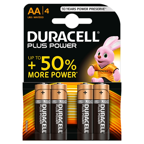 LR3 AAA Duracell Plus Power Alcalina blister 4 unidades
