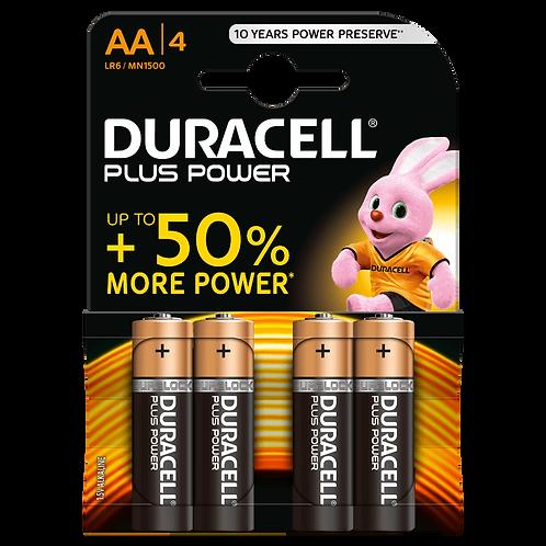 LR6 AA Duracell Plus Power Alcalina blister 4 unidades