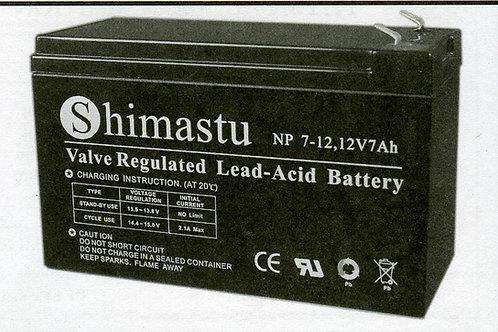 12V 7Ah Shimastu  batería plomo NP