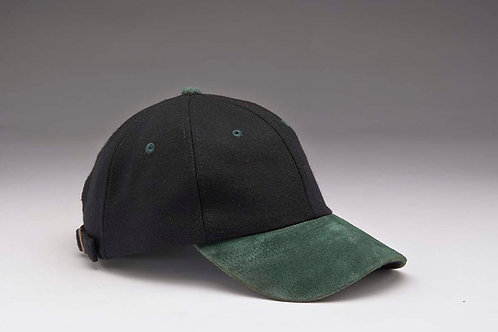 EC17 Melton Wool with Suede Peal DK.GREEN_BLACK