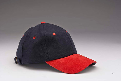 EC17 Melton Wool with Suede Peal RED_NAVY