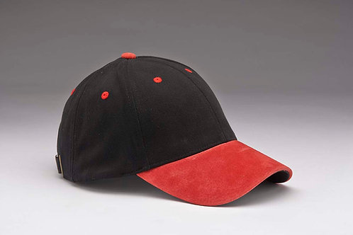 EC07 Heavyweight Brushed Cotton with Suede Peak RED_BLACK