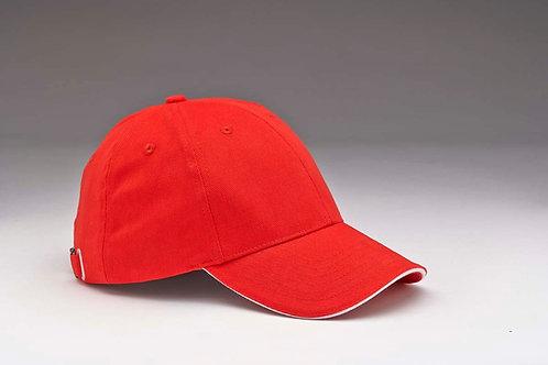 EC28 Sandwich Peak Heavyweight Brushed Cotton RED_WHITE
