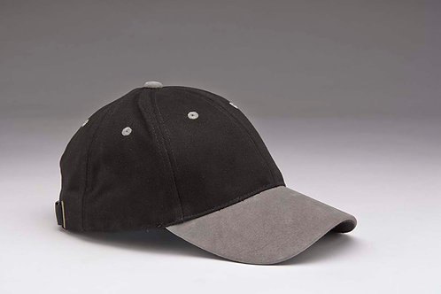 EC07 Heavyweight Brushed Cotton with Suede Peak GREY_BLACK