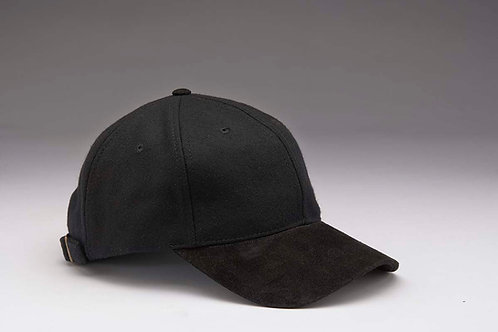 EC17 Melton Wool with Suede Peal BLACK