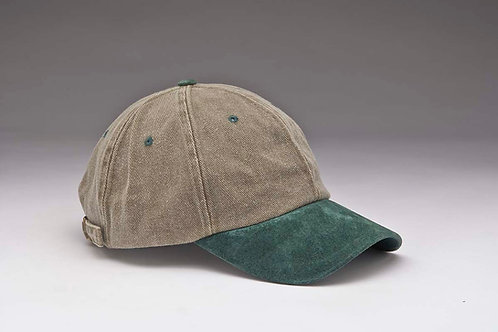 EC13 Heavyweight Pigment Dyed with Suede Peak DK.GREEN_BROWN