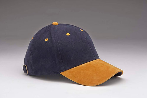 EC07 Heavyweight Brushed Cotton with Suede Peak TAN_NAVY