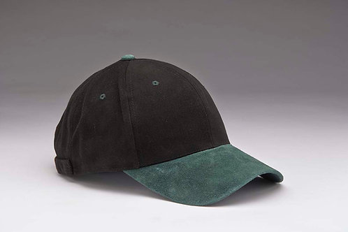 EC07 Heavyweight Brushed Cotton with Suede Peak GREEN_BLACK