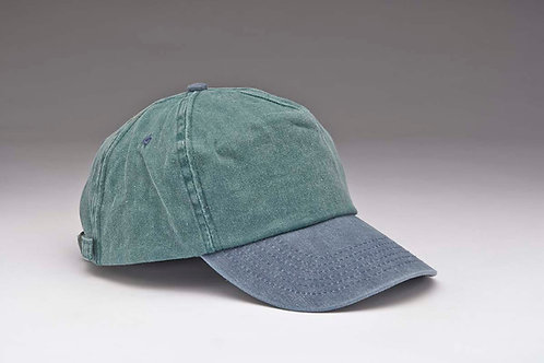 EC11 Pigment Dyed Garment Washed Cotton, Two Tones NAVY_DK.GREEN