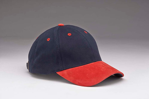 EC07 Heavyweight Brushed Cotton with Suede Peak RED_NAVY