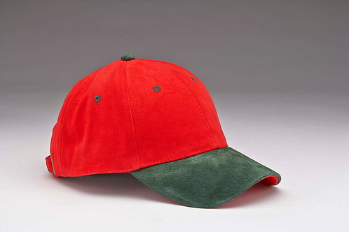 EC07 Heavyweight Brushed Cotton with Suede Peak GREEN_RED