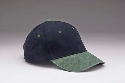 EC07 Heavyweight Brushed Cotton with Suede Peak GREEN_NAVY