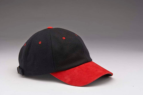 EC17 Melton Wool with Suede Peal RED_BLACK