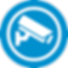 DNA Security Service Security Camera Icon Blue