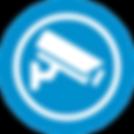DNA Security Service Security Camera Icon Blue