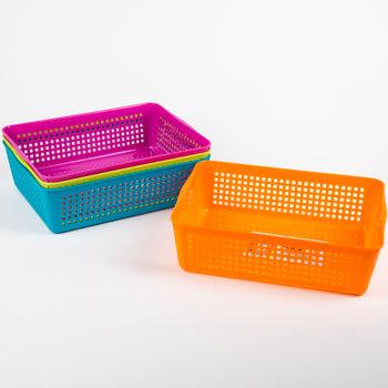 Slotted Rect Storage Basket