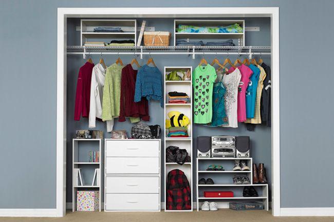 White Modular Closet