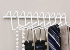 10 Hook Horizontal Tie and Belt Rack