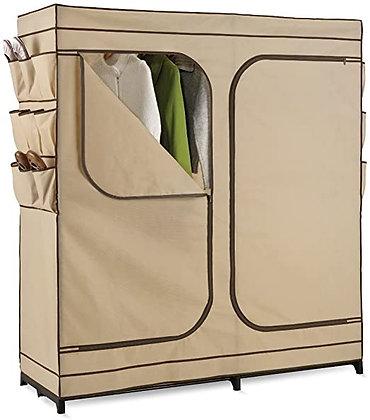 "60"" Double Door Storage Closet w/Shoe Organizer"