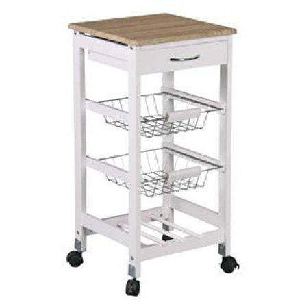 Kitchen Trolley With Drawer And Baskets