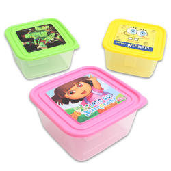 Character Square Food Container