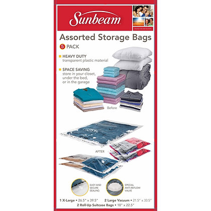 Sunbeam 5 Pc Vacuum Bag Set