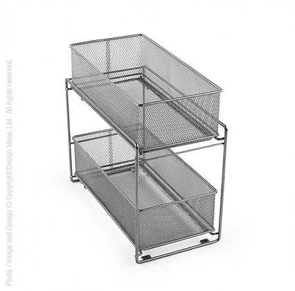 Cabinet Baskets-Mesh-Silver