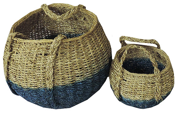 2 ct. Nesting Brown And Indigo Basket