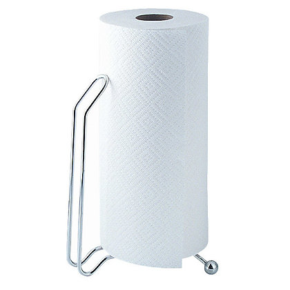 Metal paper towel holder